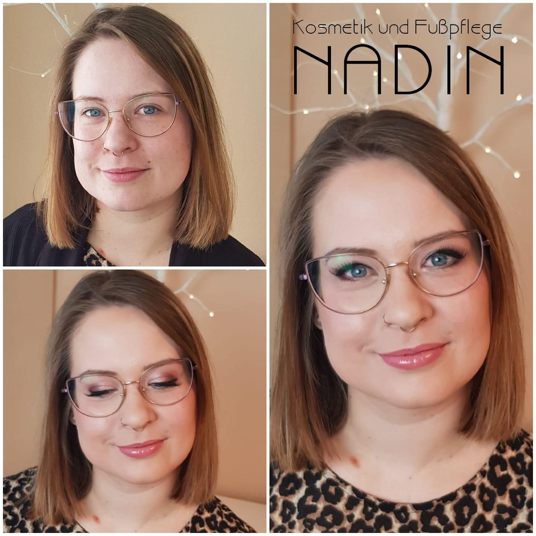 Vorher/nachher Make-up